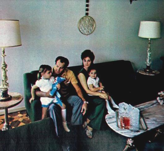 Gerson com sua família em Niterói. Crédito: revista Placar.