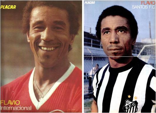 Depois da passagem pelo Porto, Flávio sempre foi destaque na revista Placar nos anos setenta.