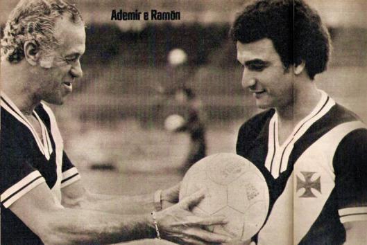 Ademir Menezes e Ramón. Crédito: revista Placar.