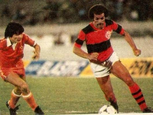 """Libertadores da América 1981. Partida contra o """"violento"""" Cobreloa. Crédito: revista Placar."""