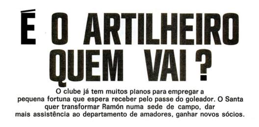 Crédito: revista Placar - 21 de dezembro de 1973.