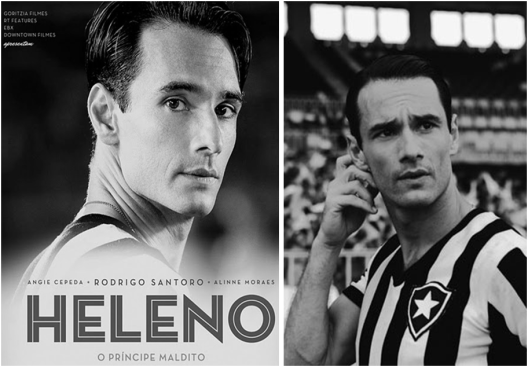 """O ator Rodrigo Santoro viveu """"Heleno"""" nas telas do cinema."""