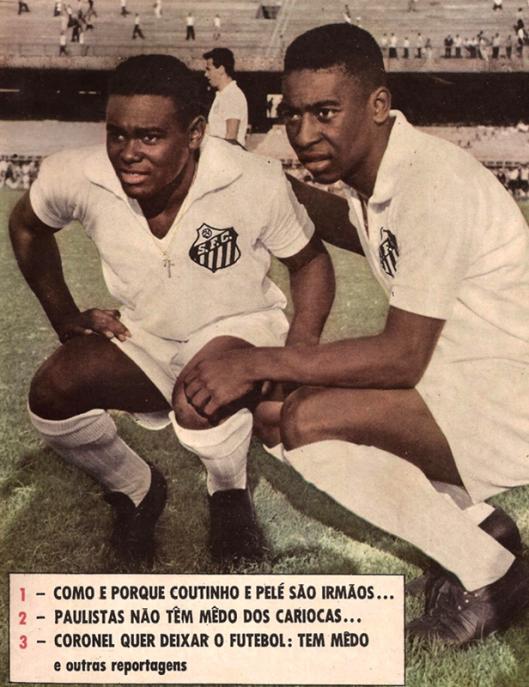 Coutinho e Pelé. Crédito: revista do Esporte número 122.