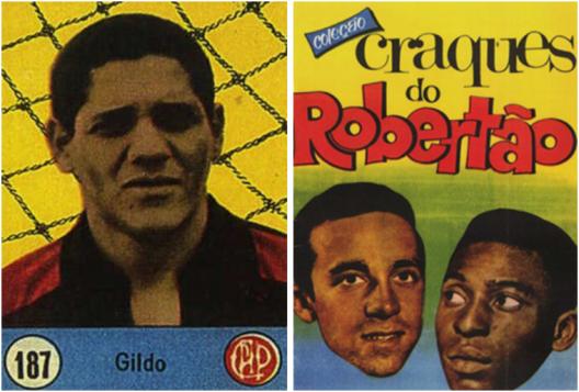 Figurinha de Gildo no Atlético Paranaense. Crédito: albumefigurinhas.no.comunidades.net.