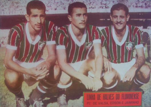 Pé de Valsa, Édson e Jaiminho. Crédito: revista O Globo Sportivo número 657.
