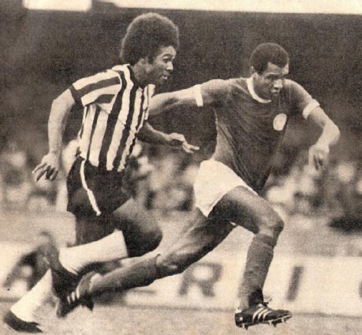 Zéquinha e Luís Pereira na final do campeonato brasileiro de 1972.