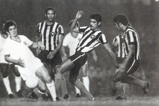 Final do campeonato carioca de 1971. Partindo da esquerda: Lula, Brito, Nei Conceição e Zequinha.