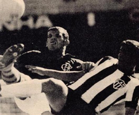 Onça em partida contra o Atlético Mineiro. Crédito: revista Placar.