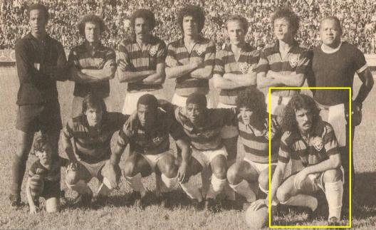 Mário Sérgio, em destaque, no time do Vitória campeão estadual de 1972.