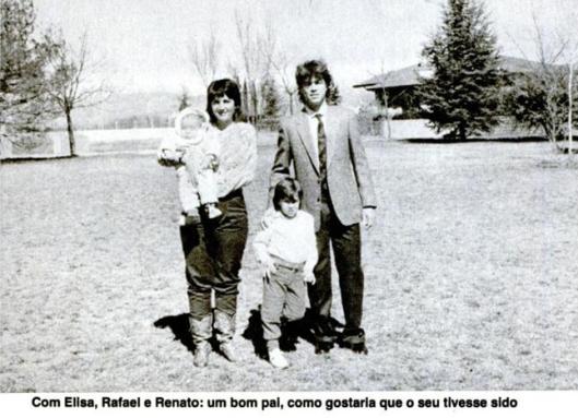 Edinho e sua esposa Elisa, quando defendia o Udinese da Itália. Crédito: revista Placar – 7 de abril de 1986.