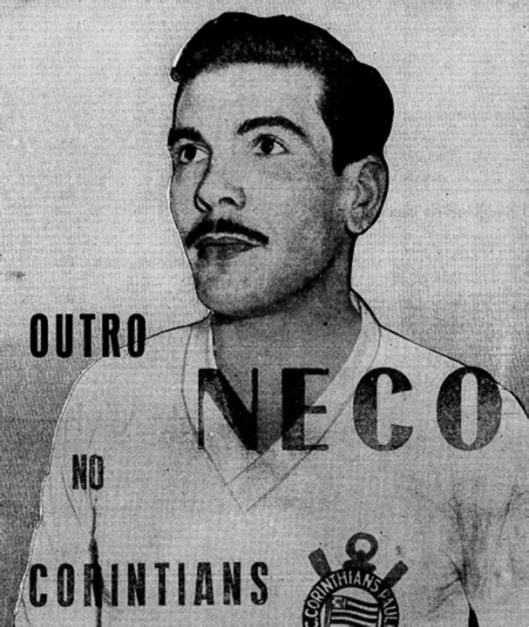 Jackson, um novo Neco para o Corinthians. Crédito: Jornal Mundo Esportivo número 204 – Sexta Feira, 21 de julho de 1950.