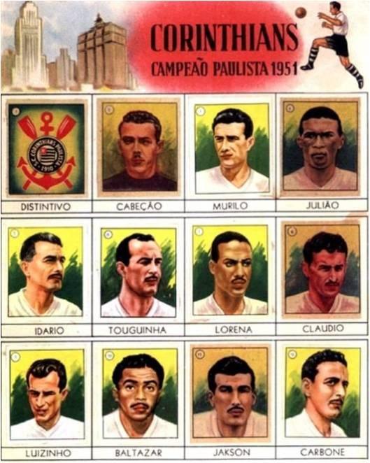 Calendário comemorativo dos campeões paulistas de 1951.