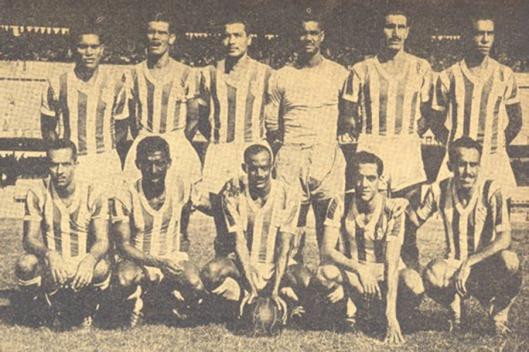 Time do Bangu que disputou o Torneio Rio São Paulo 1951 e foi vice campeão carioca. Em pé: Mendonça, Mirim, Pinguela, Luiz Borracha, Rafagnelli e Sula. Agachados: Menezes, Zizinho, Joel, Décio Esteves e Teixeirinha.