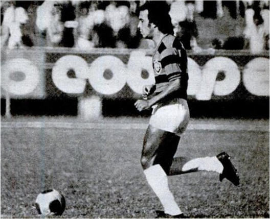 André nos tempos do Vitória. Crédito: revista Placar - 30 de março de 1979.