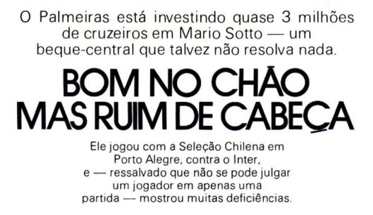Crédito: revista Placar - 18 de fevereiro de 1977.