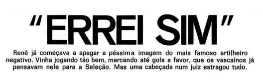 Crédito: revista Placar – 16 de novembro de 1973.