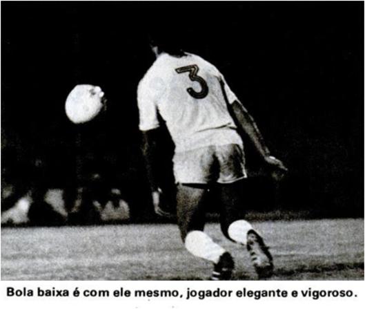 Em foto de J.B Scalco, Mário Soto na seleção chilena. Crédito: revista Placar - 18 de fevereiro de 1977.