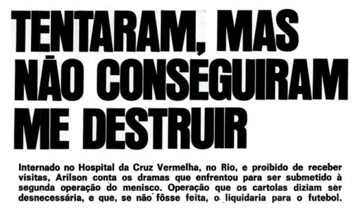 Crédito: revista Placar – 5 de fevereiro de 1971.