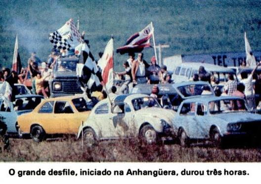 A festa do Botafogo campeão. Crédito: revista Placar 27 de maio de 1977.