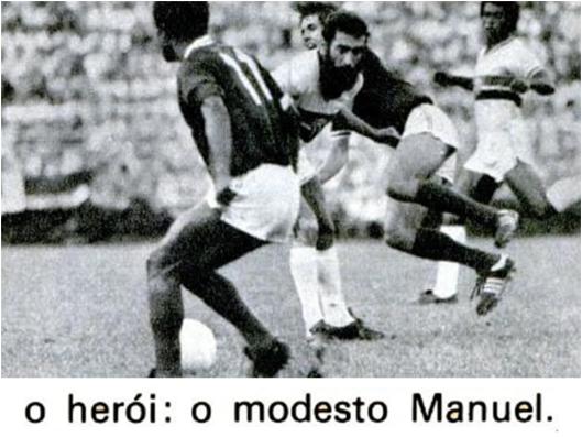 O empate contra o Guarani levou o Botafogo ao encontro decisivo contra o São Paulo. Crédito: revista Placar - 20 maio 1977.